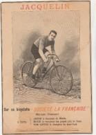 -  Publicité 235mm X 160mm  Par  JACQUELIN Pour Bicyclette  - 016 - Reclame