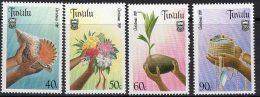 TUVALU SG564/7 1989 CHRISTMAS MNH
