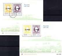 Europäische  Marken 1980 Insel Azoren Block 1 ** + SST 10€ Bloques Hojitas Hb Blocs Ships M/s History Sheets Bf Portugal - Unclassified