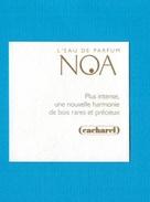 Cartes Parfumées Carte NOA De CACHAREL - Modernes (à Partir De 1961)