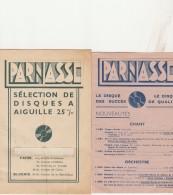 -  Publicité  En 5  Feuillets Pour Disques PARNASSE - 021 - Reclame