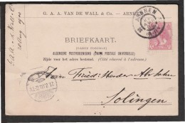 Netherlands 1900 Post Postal History Mail Delivery Classics Arnhem Used Postcard With 5c Definitive Affixed - Periode 1891-1948 (Wilhelmina)