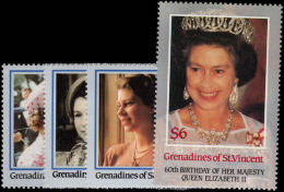 St Vincent Grenadines 1986 Queens 60th Birthday Unmounted Mint.