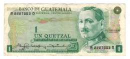 Guatemala 1 Quetzal, 1979, VF, Rare. Free Ship. To USA. - Guatemala