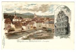 GRUSS AUS GERNSBACH I. Murgthal - Rathaus - Carte Illustrateur E. MÜNCH - Ed. Joh. Elchlepp´s, Freiburg I. / Br. - Gernsbach