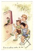 Illustrateur Monique Favry - ENFANTS - J'ai Mal Au Ventre De Rire! - THÉÂTRE DE MARIONNETTES  - Ed. R. Hamel, Paris - Scene & Paesaggi