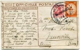 ALLEMAGNE CARTE POSTALE OFFICIELLE 1912 DEPART FLUGPOST AM RHEIN UND MAIN DARMSTADT 12-6-12 POUR LA SUISSE - Airmail