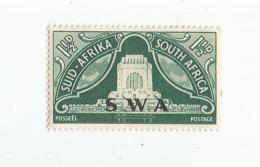 SOUTH WEST AFRICA, 1949, MNH 1 1/2p, Voortrekker Monument Overprint, Scott 164 - South West Africa (1923-1990)