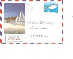 Polynésie ( Lettre Par Avion De 1990 De Mahina Vers La France à Voir) - Storia Postale