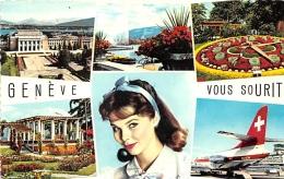 GENEVE ... VOUS SOURIT  VUES MULTIPLES  CACHET - GE Geneva