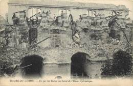 BOURG ET COMIN     USINE HYDRAULIQUE BOMBARDEE   WW1 - France
