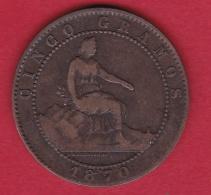 Espagne - 5 Centimos - 1870 OM - Other
