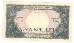 ROMANIA  . 1000 Lei , 1945 , XF (w/m Trajan) , Free Ship. To USA. - Romania