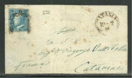 DA CATANIA PER CITTA´ - 19.2.1860 - FIRMA E.DIENA. - Sicilia