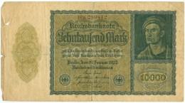 Germany Reichsbanknote 10000 Mark 1922 Pick 72 (G) - [ 3] 1918-1933: Weimarrepubliek