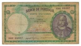 Portugal 20 Esc. 1959, VG. Free Ship. To USA. - Portugal