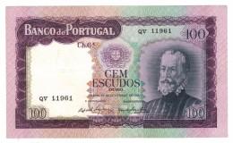 Portugal 100 Esc. 1961, UNC . Free Ship. To USA. - Portugal