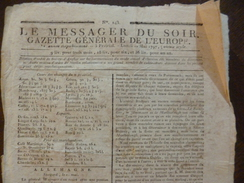 Journal Révolution Le Messager Du Soir Gazette Générale De L'Europe 22/05/1797 - Kranten Voor 1800