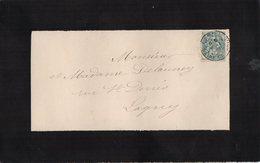 TB 2086  -  Lettre De Mr Léon DELAUNEY Greffier De Paix à LAGNY Pour LAGNY - Marcophilie (Lettres)