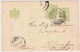 1891, 5 B. A. GA 5 B., Finnland-Stempel Auf Rumänien !!!!! #6256 - Covers & Documents