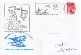 PA FOCH Dernière Sortie PEAN, Dernier Catapultage Crusader Obl. Foch 25/10/99 - Marcophilie (Lettres)
