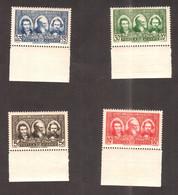 Algérie 1939 - Pionniers Du Sahara - 4v , Yvert# 149/52  -  Neuf Sans Charnieres , Luxe ** Bord De Feuille - Algérie (1924-1962)