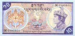 BHUTAN 10 NGULTRUM 10Nu BANKNOTE 1986 PICK-15B UNCIRCULATED UNC - Bhoutan