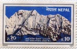 MT.KANJIROBA HIMALAYAN MOUNTAIN RUPEE 10 STAMP NEPAL 1987 MINT MNH - Geologie