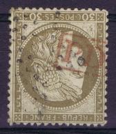 France: Yv  56 Cachet PD En Rouge + Etoile - 1871-1875 Ceres