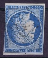 France Col. Gen. :  Yv  23  Cachet ANCRE RRR  Est Utilisé Seulement Après 1857  , Cachet De Bord Des Paquebots - Cérès