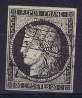 France   Yv 3  Cachet Grille - 1849-1850 Cérès