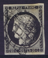 France   Yv 3  Cachet Grille - 1849-1850 Ceres