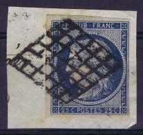 France   Yv 4 Cachet Grille - 1849-1850 Cérès