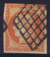 France   Yv 5 Cachet Grille Petit Coupé En Bas à Droite - 1849-1850 Ceres