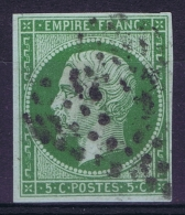 France   Yv 12 Cachet Grille Pointilée - 1853-1860 Napoleon III