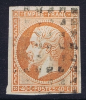 France   Yv 16 Cachet Grille Gross Points Carré - 1853-1860 Napoleon III