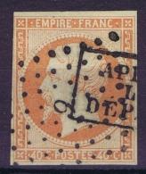 France   Yv 16 Obl Apres Depart Et Petit Chiffre 6 Absie