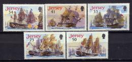 Jersey 2005 / Ships Trafalgar Battle MNH Barcos Versand Bateau / Cu1206  31 - Barcos