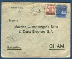 Cuba - Enveloppe Du Consulat Suisse à La Havane Pour La Suisse Via New York En 1940   Réf O 9 - Cuba