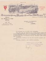 LEUVEN-BROUWERIJ-BRASSERIE-MOUTERIJ-VAN TILT-GEZUSTERS-VTS-BIER-VAN HOGE EN LAGE GISTING-1943-PRACHTIGE HOOFDING-2 SCANS - Belgium