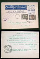 STORIA POSTALE-COLONIE ITALIANE LIBIA-1940 -CARTOLINA COMMERCIALE DA TRIPOLI A BOLOGNA- - Libya
