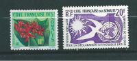 Timbres Des Cote De Somalis De 1958  N°290 Et 291  Neuf ** Sans Charnière - French Somali Coast (1894-1967)