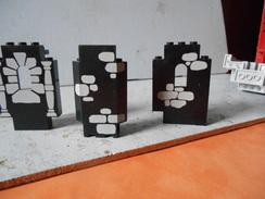 Légo Lot De 3 Demi Murs De Chateau Déco Noire - Lego System