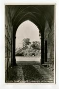 WARWICK CASTLE , ETHELFLEDA'S MOUND FROM THE GATEHOUSE. - Warwick