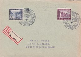 ALLEMAGNE   1937 LR DE NÜRNBERG AVEC CACHET ARRIVEE - Germany