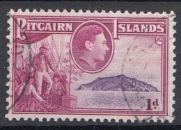 "Pitcairn - Koning George VI - Muiterij ""Bounty""- Fletcher Christian - Pitcairn - Gebruikt/gebraucht/used - M2 - Pitcairneilanden"