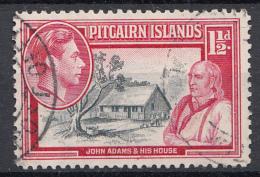 "Pitcairn - Koning George VI - Muiterij ""Bounty""- John Adams - Pitcairn - Gebruikt/gebraucht/used - M3 - Pitcairneilanden"