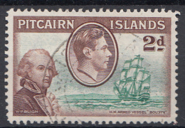 """Pitcairn - Koning George VI - Muiterij """"Bounty""""- Leutnant Bligh - Pitcairn - Gebruikt/gebraucht/used - M4 - Pitcairneilanden"""