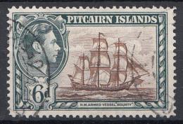 "Pitcairn - Koning George VI - Muiterij ""Bounty""- HMS ""Bounty"" - Pitcairn - Gebruikt/gebraucht/used - M7 - Postzegels"