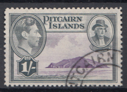 "Pitcairn - Koning George VI - Muiterij ""Bounty""- Fletcher Christian - Pitcairn - Gebruikt/gebraucht/used - M9 - Pitcairneilanden"